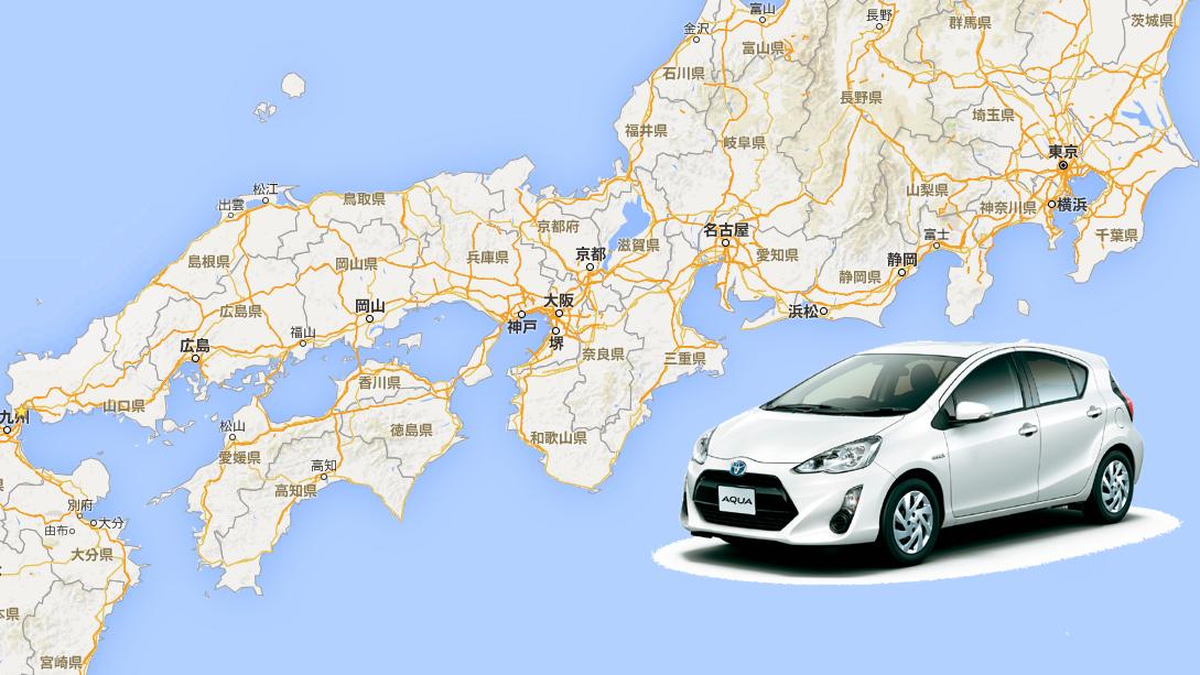 車で日本一周 本州(太平洋側) 山口-東京
