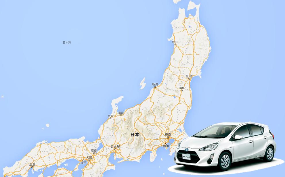 車 日本一周 本州 日本海側 青森-山口